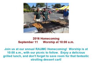 RAUMC Homecoming 2016